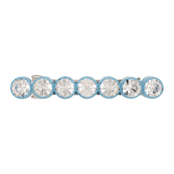 MARC JACOBS | Marc Jacobs Blue Scalloped Crystal Barrette. | Goxip