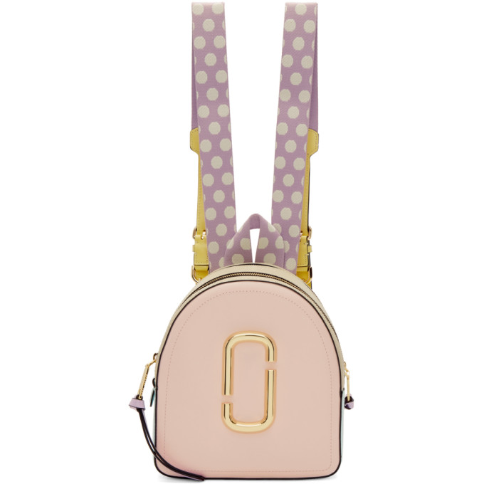 Marc Jacobs Pink and Blue Pack Shot Backpack
