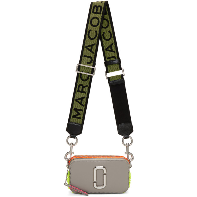Marc Jacobs Grey Small Whipstitched Snapshot Bag
