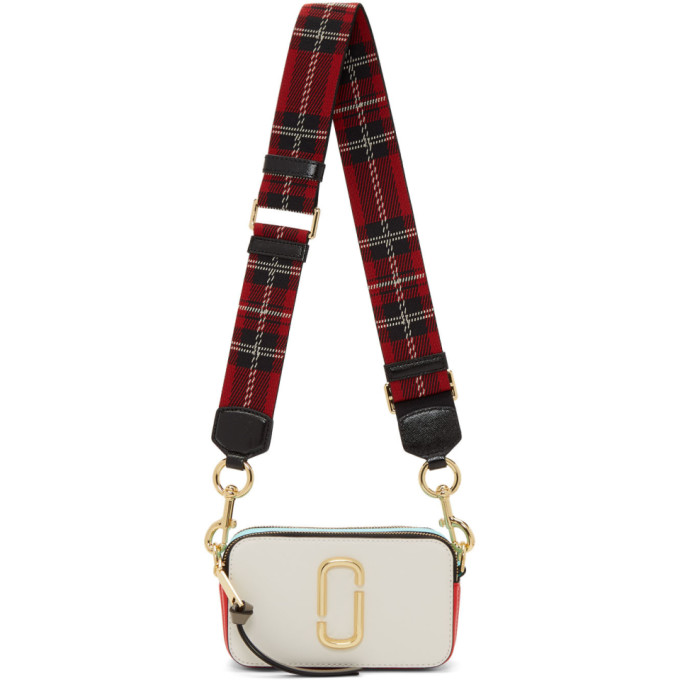 Marc Jacobs White & Red Snapshot Bag