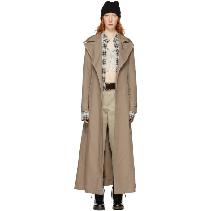 Redux Grunge Full-Length Belted Trench Coat in 265 Tan