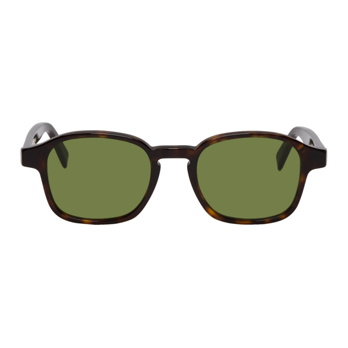 SUPER Super Tortoiseshell And Green Sol Sunglasses