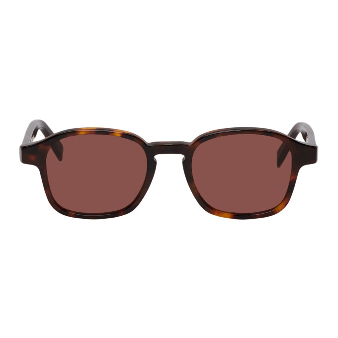 SUPER Super Tortoiseshell And Brown Sol Sunglasses in Warm Brown