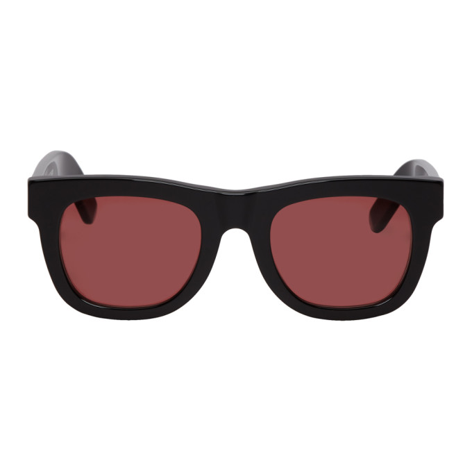 SUPER Super Black And Red Ciccio Sunglasses in Blkbordeaux