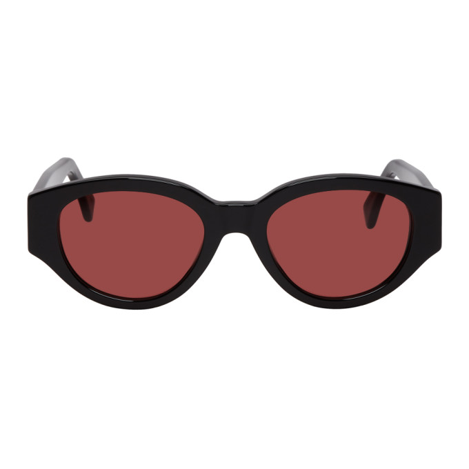 SUPER Super Black And Red Drew Mama Sunglasses in Blkbordeaux