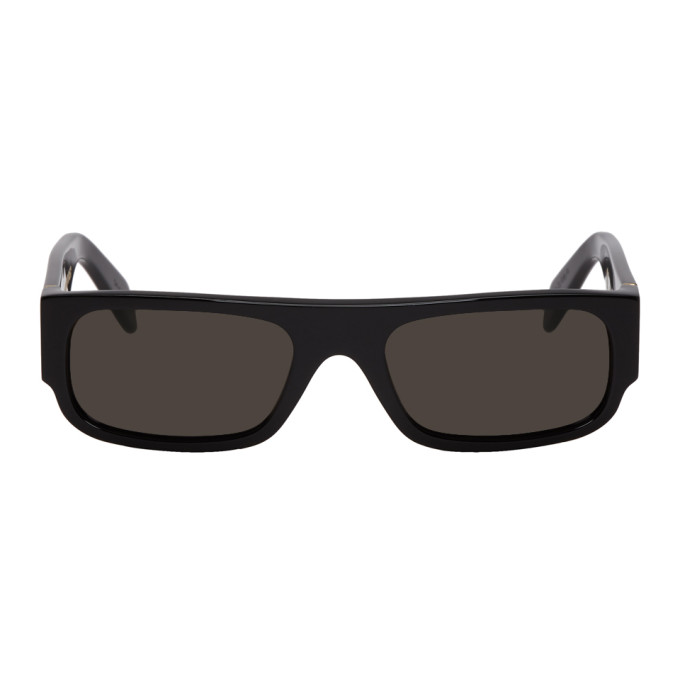 SUPER Super Black Smile Sunglasses
