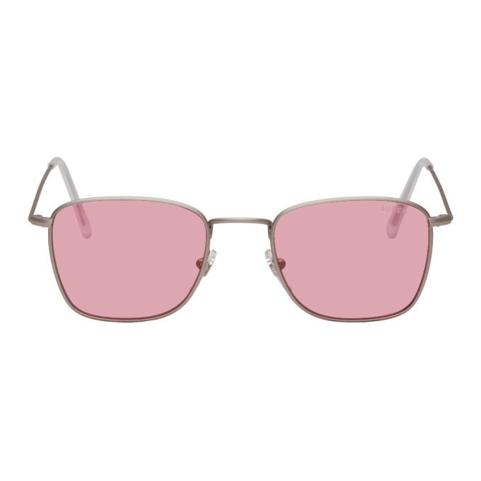 SUPER Super Silver And Pink Strand Sunglasses in Pinkslvmat