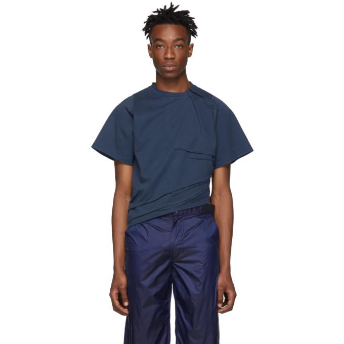 Bianca Saunders T-shirt bleu Pull Up On Em