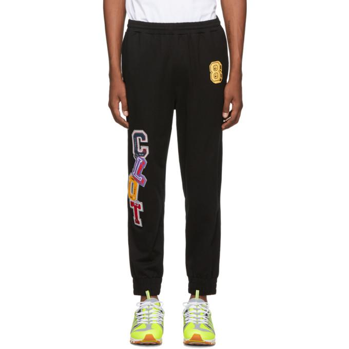 Clot Pantalon de survetement a applique a logo noir