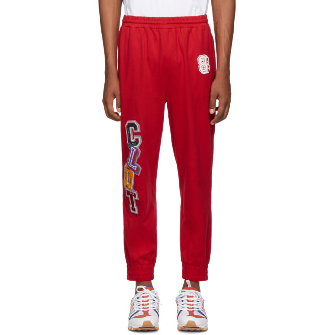 Clot Pantalon de survetement a appliques rouge