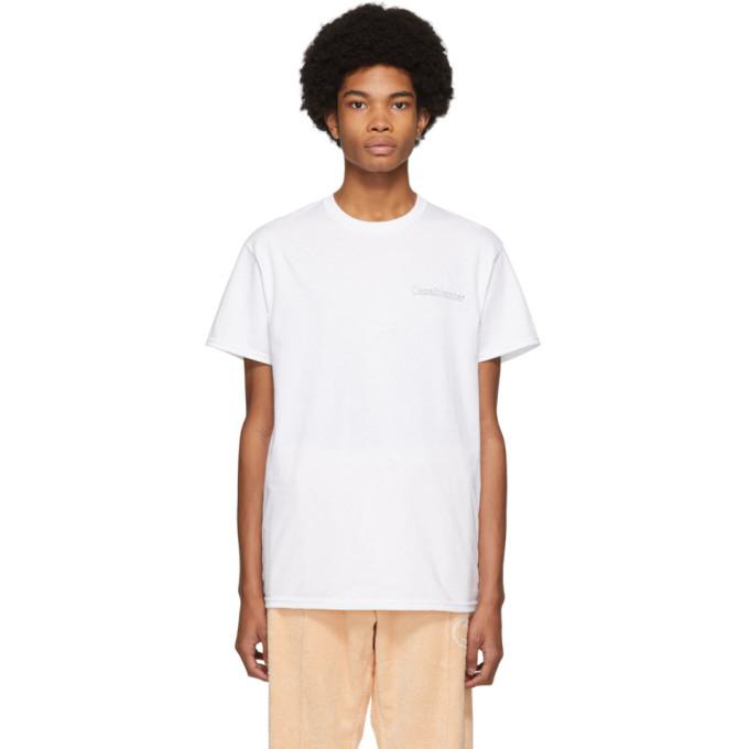 Casablanca T-shirt a logo blanc