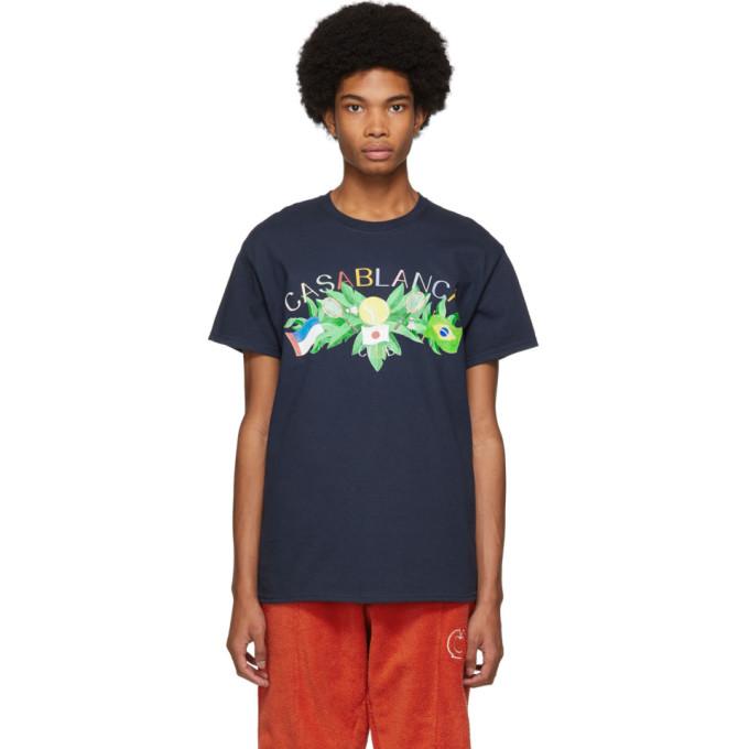 Casablanca T-shirt bleu Tennis Club