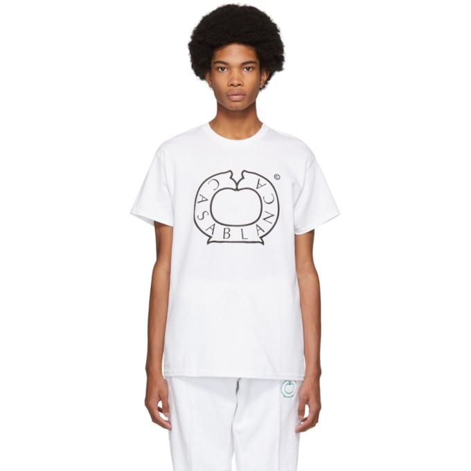 Casablanca T-shirt blanc Vintage Logo