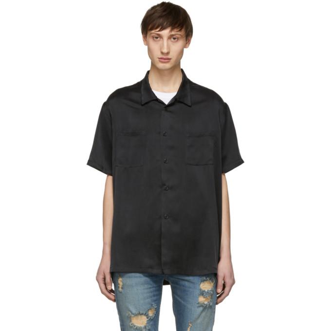 Nahmias ブラック シルク シャツ