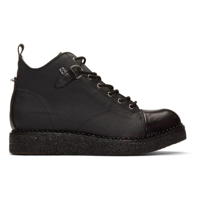 T.U.K Shoes Womens Black Yuni Heeled Sandal Limited Edition