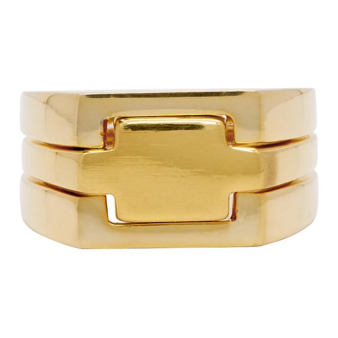 ALAN CROCETTI Alan Crocetti Gold Puzzle Ring in Yllw Gld