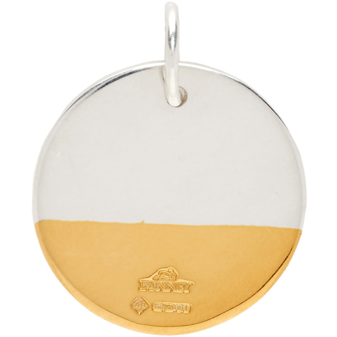 Bunney BUNNEY SILVER AND GOLD DIP NECKLACE CHARM