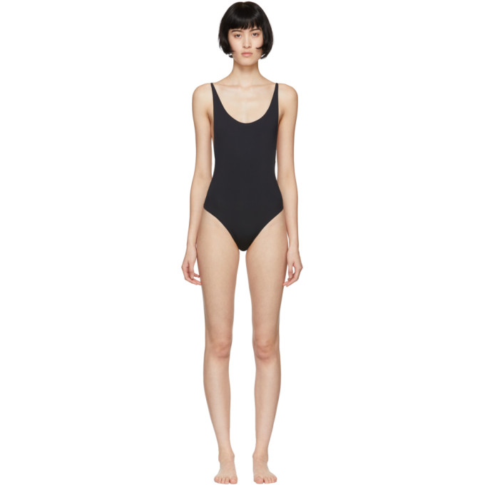 HAIGHT Haight Black Thin Strap One-Piece Swimsuit