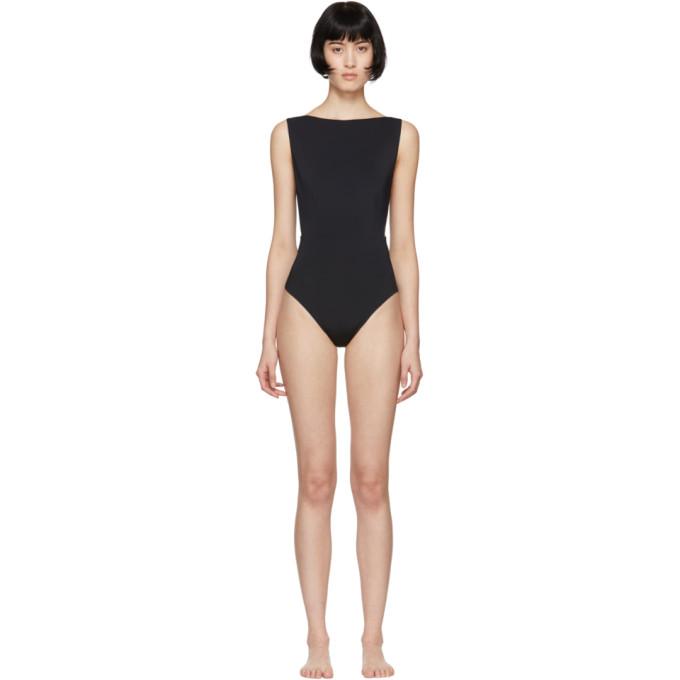 HAIGHT Haight Black Side Slit One-Piece Swimsuit