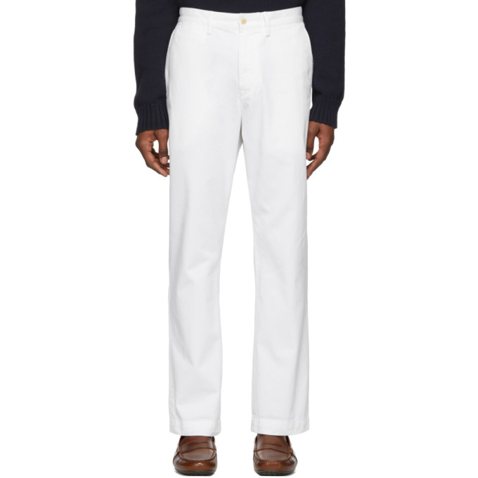 Polo Ralph Lauren White Basic Chino Trousers