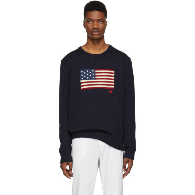 Polo Ralph Lauren Navy Knit Icon Sweater