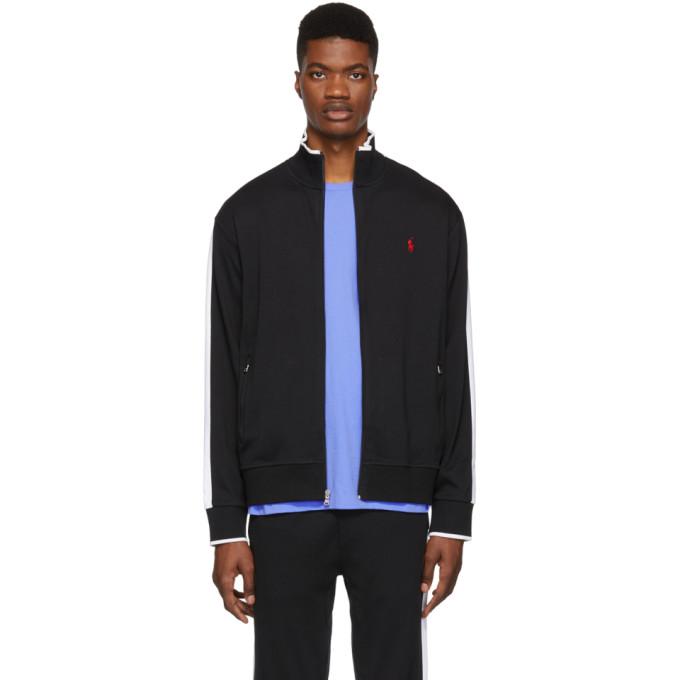 Polo Ralph Lauren Black Interlock Track Jacket