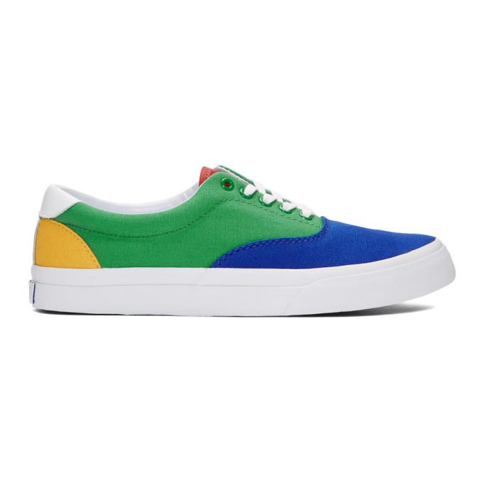 Polo Ralph Lauren Green & Blue Thorton III Sneakers