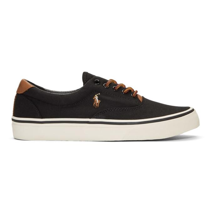 Polo Ralph Lauren Black Thorton Sneakers