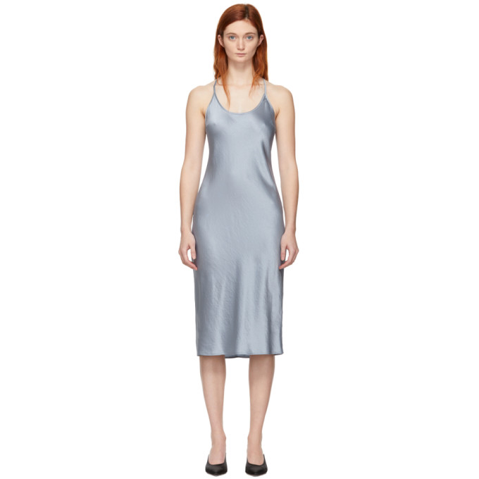 ALEXANDERWANG.T Alexanderwang.T Blue Wash And Go Dress in 468 Sky