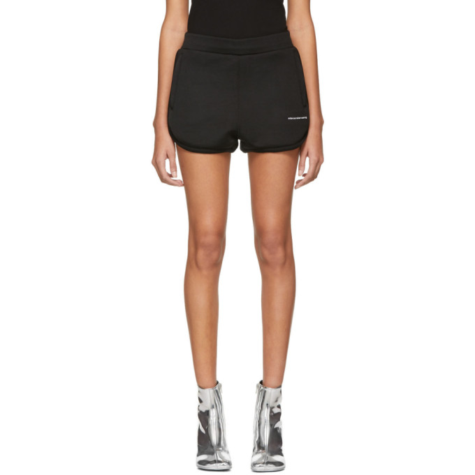 217618aac566 alexanderwangt Black Heavy Sleek Track Shorts