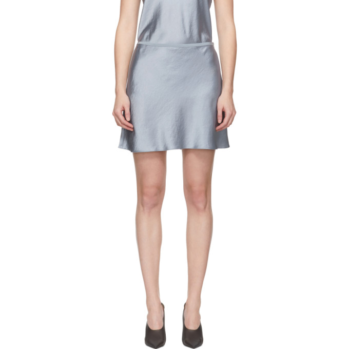 ALEXANDERWANG.T Alexanderwang.T Blue Wash And Go Miniskirt in 468 Sky