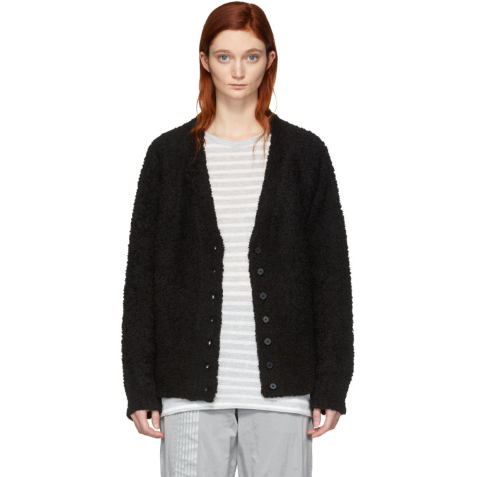 ALEXANDERWANG.T Alexanderwang.T Black Fleece Cardigan in 001 Black