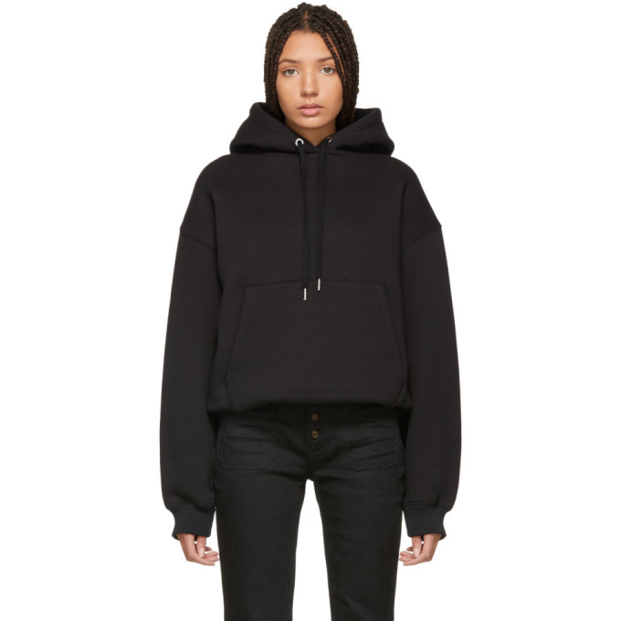 ALEXANDERWANG.T Alexanderwang.T Black Dense Fleece Hoodie in 001 Black