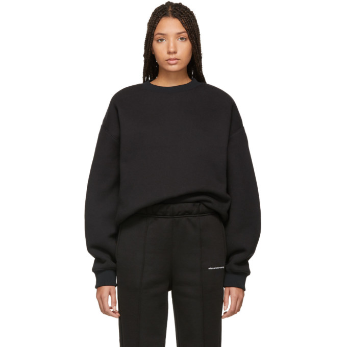 ALEXANDERWANG.T Alexanderwang.T Black Dense Fleece Sweatshirt in 001 Black