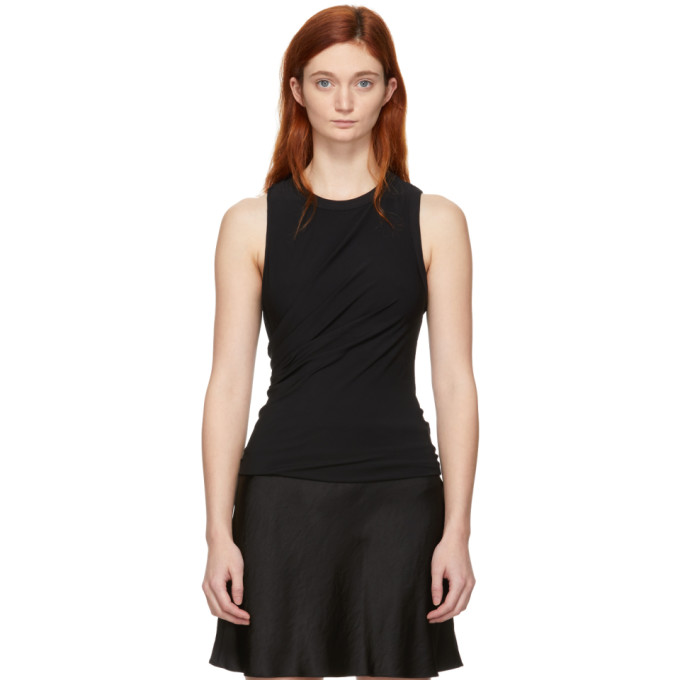 ALEXANDERWANG.T Alexanderwang.T Black Twisted Top in 001 Black