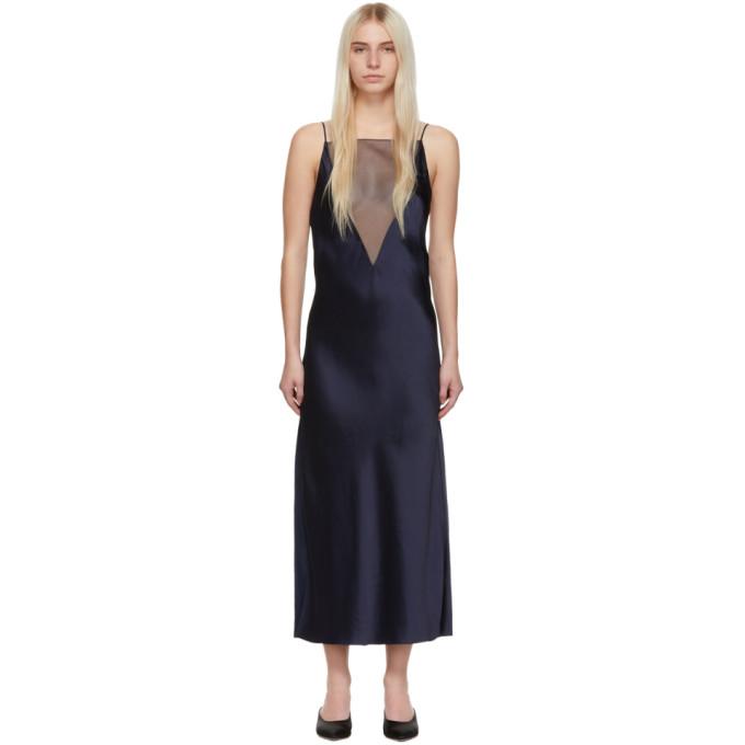 Marina Moscone Fond de robe bleu marine Gia