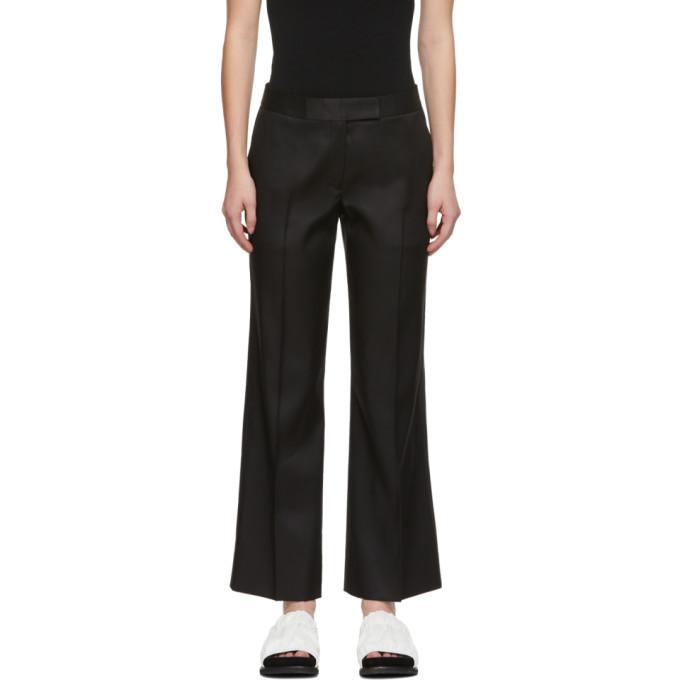 Marina Moscone Pantalon ecourte en soie noir