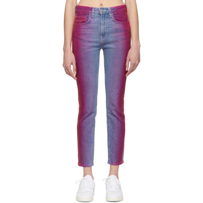 Jordache Jean multicolore Rainbow Vintage Crop