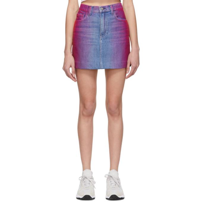 Jordache Mini-jupe en denim multicolore Rainbow