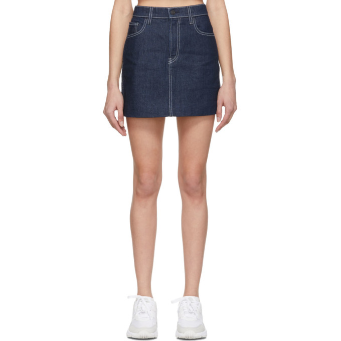 Jordache Mini-jupe en denim bleue