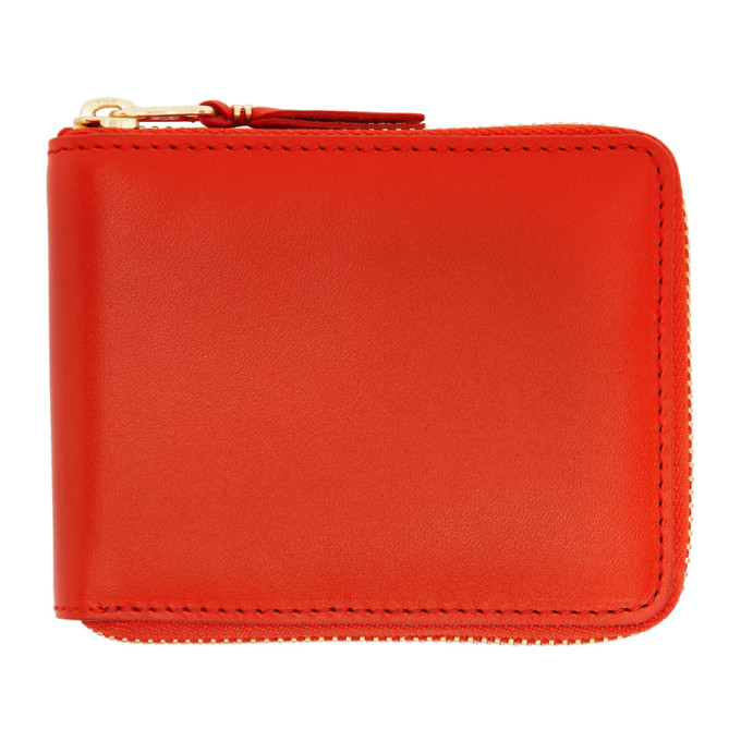Image of Comme des Garçons Wallets Orange Classic Zip Wallet