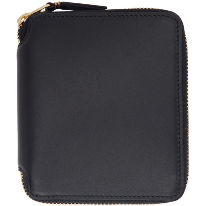 Image of Comme des Garçons Wallets Black Classic Zip Wallet