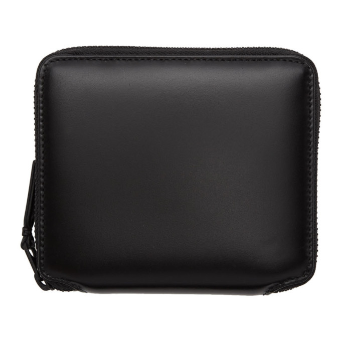 Comme des Garçons Wallets Black Leather Zip-Around Wallet