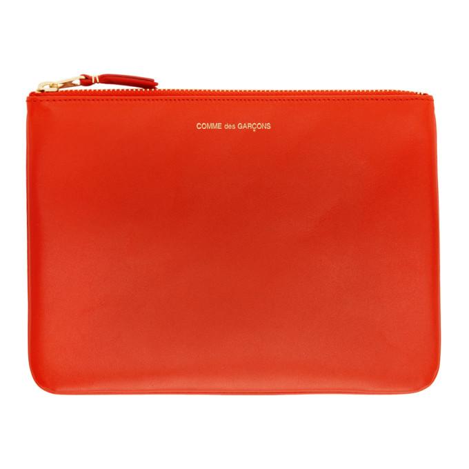 Image of Comme des Garçons Wallets Orange Classic Zip Pouch