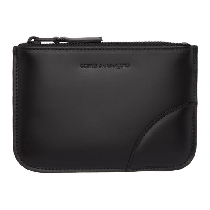 Image of Comme des Garçons Wallets Black Leather Pouch