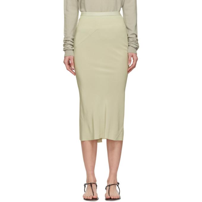 Image of Rick Owens Grey Silk Skirt