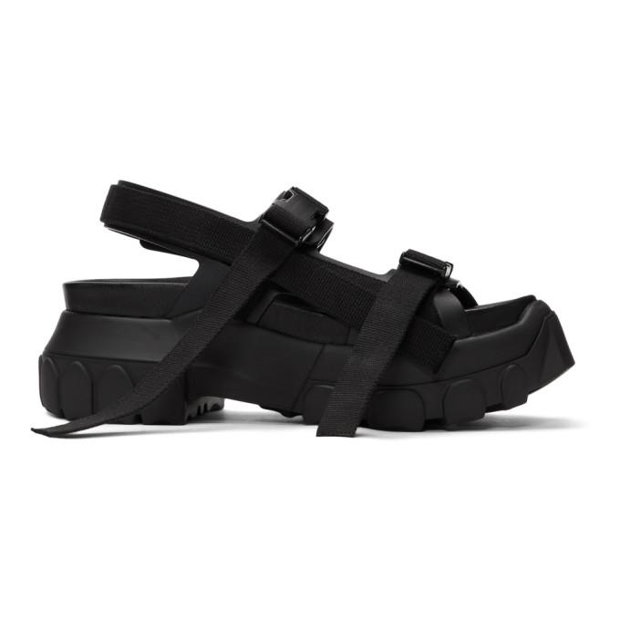 Rick Owens Black Tractor Sandals