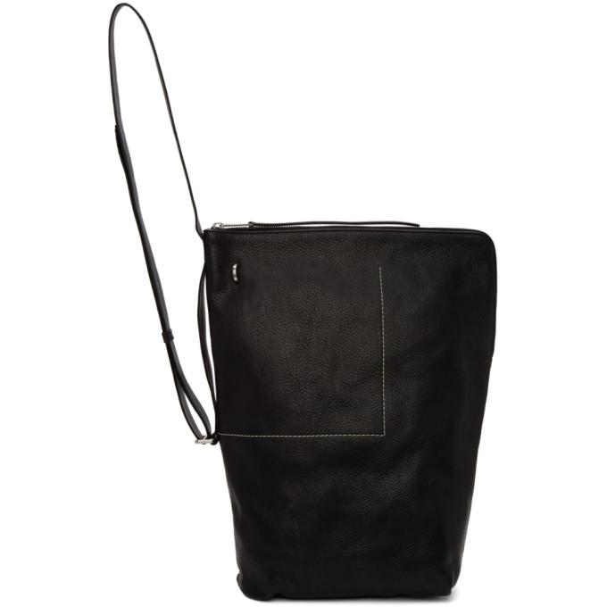 Rick Owens Black Bucket Backpack