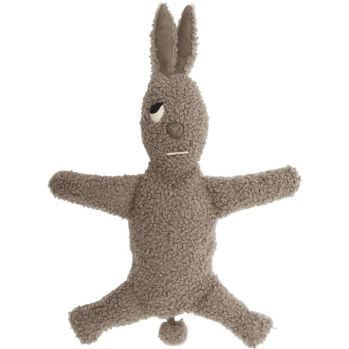 Rick Owens Grey Shearling Bunny Pouch