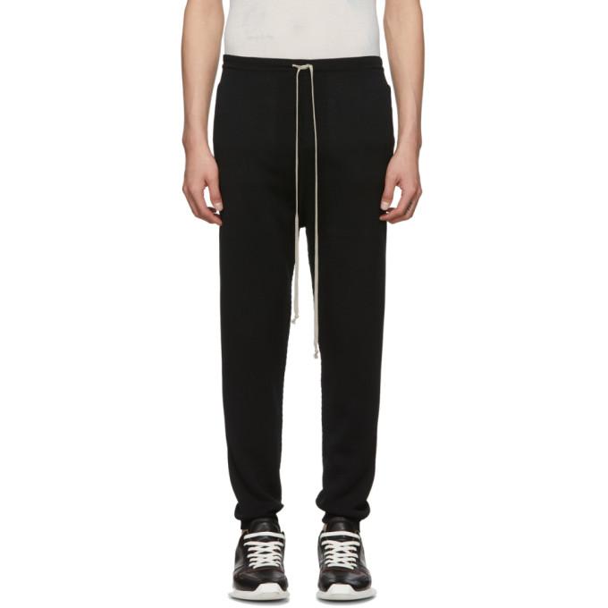 Rick Owens Pantalon de survetement noir Joggers